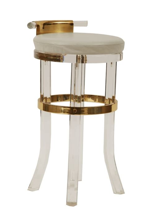Modern Acrylic Bar Stools by Lucite Brass Counter Stools Modern Furniture