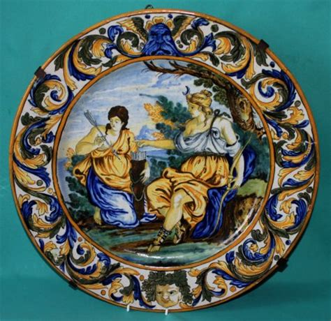 italian ceramic the maiolica pavement tiles of the fifteenth century with illustrations classic reprint books italian maiolica charger quot diana and callisto quot 19th century