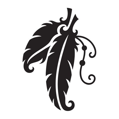 american indian feathers stencil for glitter quartermarks