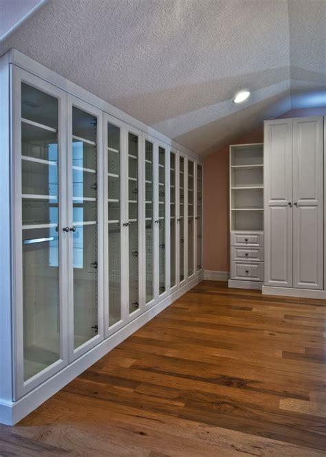 master closet white  finished attic  angled