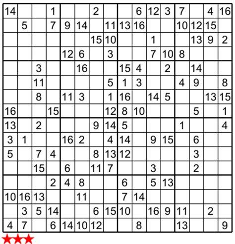 super sudoku 16x16 e :no 5
