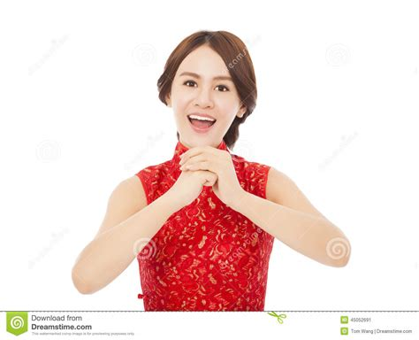 new year greeting gesture happy new year beautiful asian with