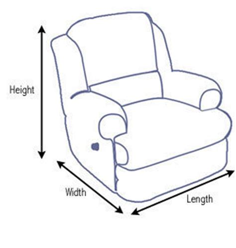 recliner sizes recliner dimensions dimensions info
