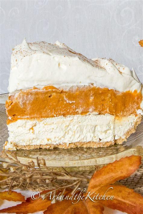 no bake layer pumpkin pie and the kitchen