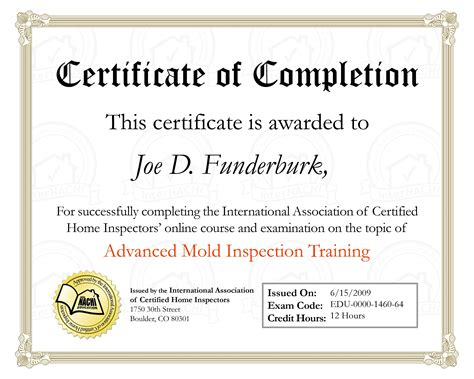 Home Inspection License, etc.