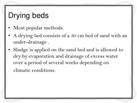 design criteria for sludge drying beds design criteria for waste water treatment