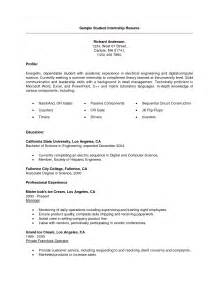 Resume Template For College Student Internships by 28 Resume Templates For Internship Students Vntask