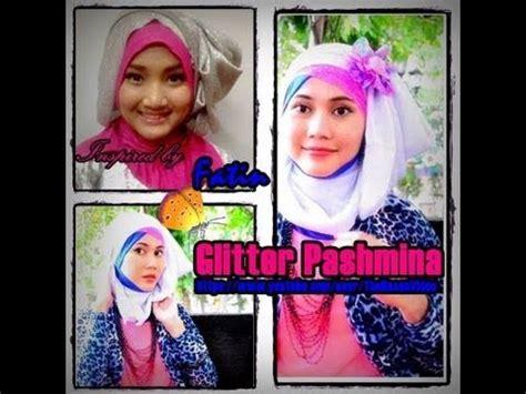 tutorial pashmina rajut glitter pashmina glitter hijab tutorial turban pocket style