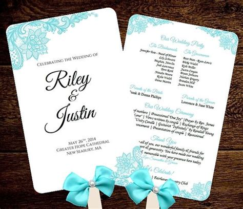 wedding fan templates free wedding fan program template printable blue fan
