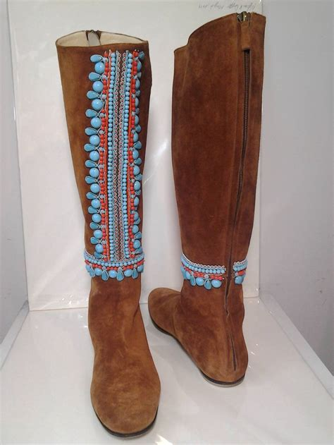 Wedges St Moritz miss trish of st moritz suede moccasin boots w ethnic