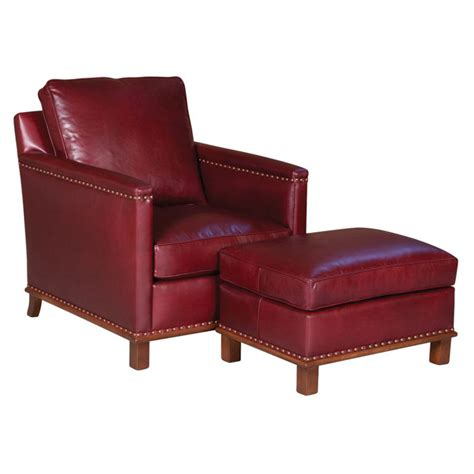 Classic Leather Chair And Ottoman Design Ideas Classic Leather 21 22 Wt 20 Wt Lindsay Chair Ottoman Discount Furniture At Hickory Park