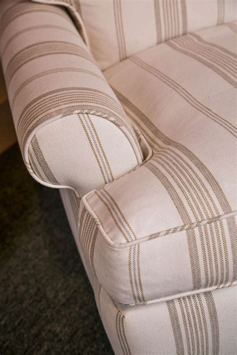 striped chair and ottoman striped club chair with ottoman at 1stdibs