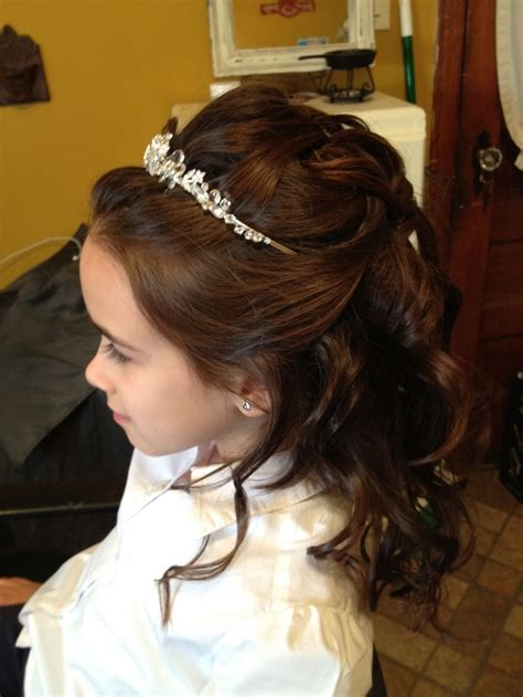 cute hairstyles for first communion communion hair makaylee s communion pinterest