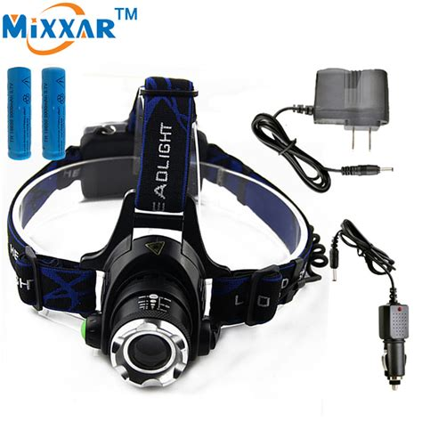 Headl Flashlight Waterproof White Led zk40 led headls lights waterproof flashlight forehead headlights torch