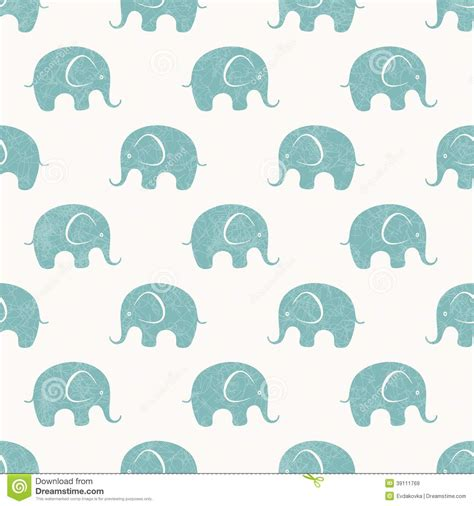 pattern elephant background seamless vector print with cute little elephants stock