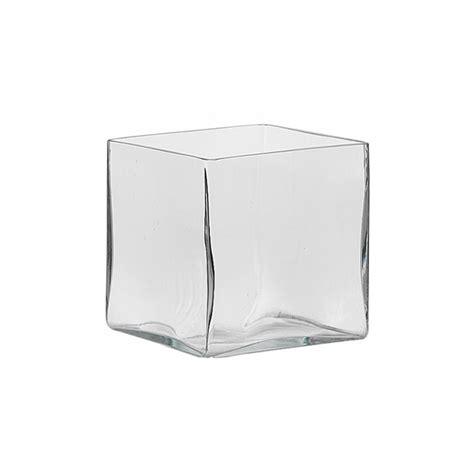 vaso quadrato vetro vaso quadrato vetro ondulato aperto vetro cristalleria
