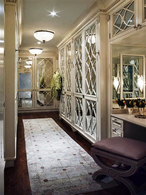 mirrored dressing room mirrored doors traditional closet traditional home
