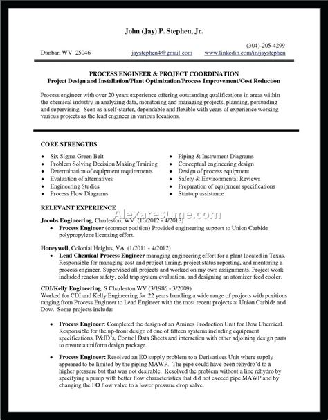 chemical engineering fresher resume format cv sle chemical engineer images certificate design and template