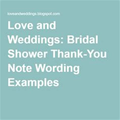 Bridal Shower Thank You Exles by Thank You Messages Your Message And Bridal Shower On