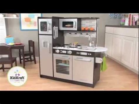 modern play kitchen kidkraft uptown espresso kitchen 53260 large modern