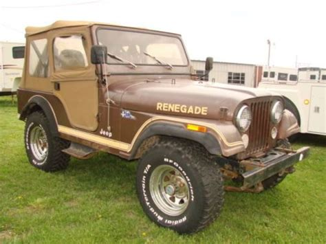 brown jeep renegade purchase new 1983 jeep cj5 renegade 4x4 in flintville