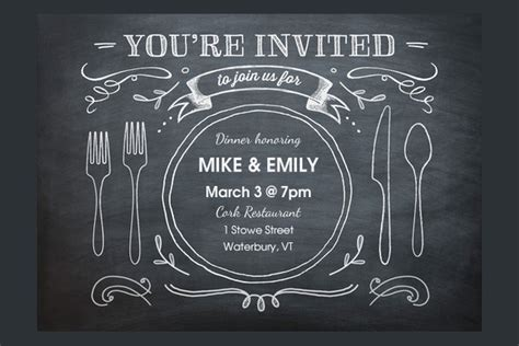 design an invitation card for dinner party printable invitation cards free premium templates