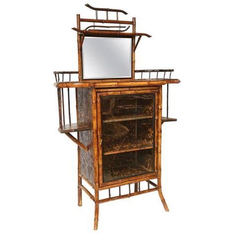english antique bamboo cabinet with laquer top on 19th century english bamboo lacquer cabinet