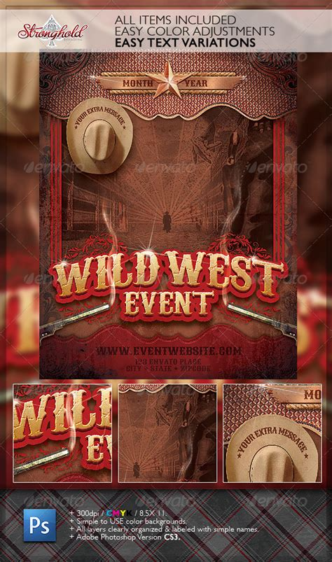 Flyer Template Western Rope Border 187 Dondrup Com West Poster Template