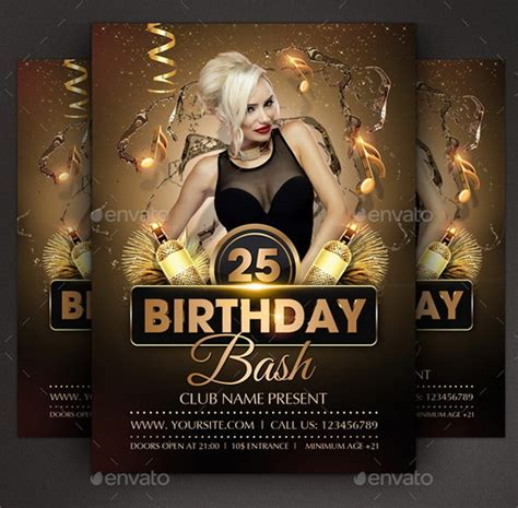 birthday party flyer templates stackerx info