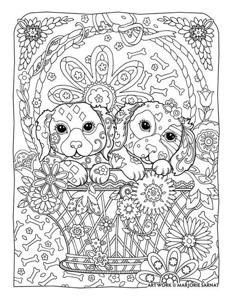 puppies coloring pages for adults creative haven dazzling dogs coloring book by marjorie