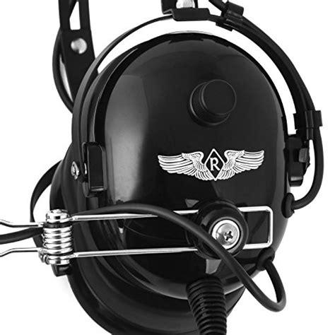 rugged headsets rugged air ra454 black general aviation stereo pilot headset aviation headsets