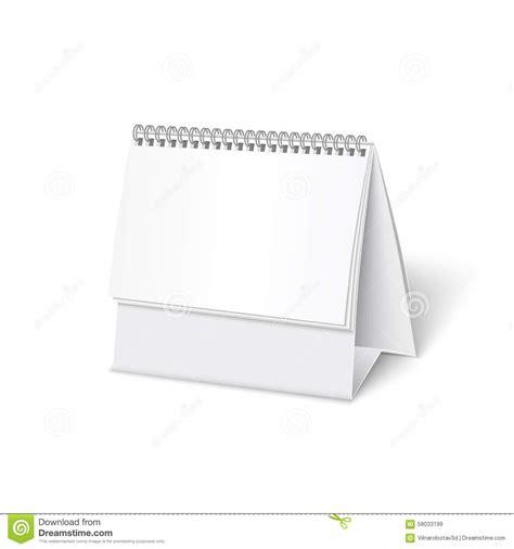 blank paper desk spiral calendar stock vector image