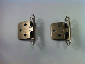 antique brass self closing flush mount cabinet hinges ebay