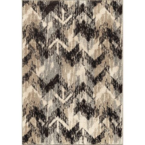 10 X 20 Area Rug Orian Rugs Twisted Gray 7 Ft 10 In X 10 Ft 10 In Plush Pile Chevron Indoor Area Rug