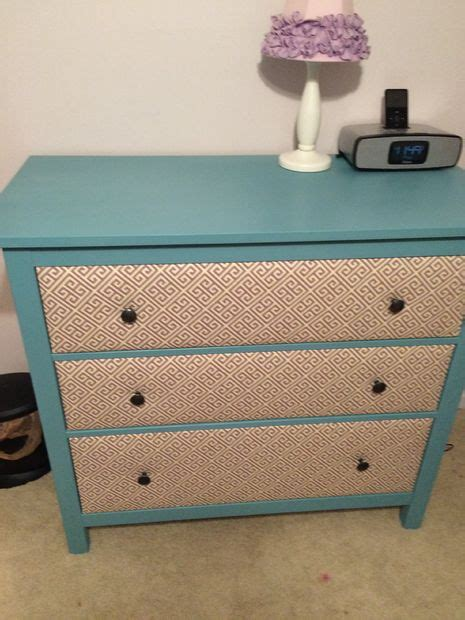 Fabric On Dresser Drawers by Fabric Covered Hemnes Drawer