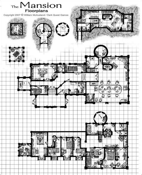 Fantasy Castle Floor Plans | medieval castle floor plans medieval fantasy mansion