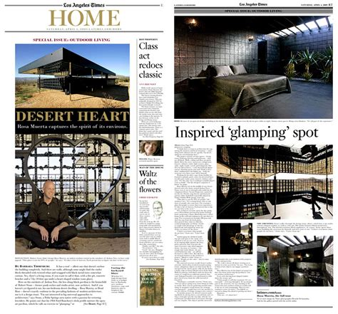 los angeles times home and design los angeles times rosa muerta robert stone design