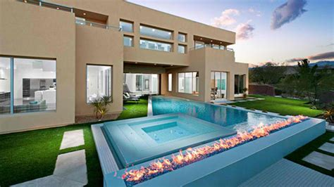 Bathroom Ideas For Small Areas 15 dramatic modern pool areas with fire pits home design