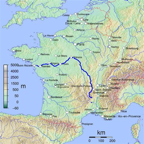fiume che bagna monaco map with river loire highlighted mappery