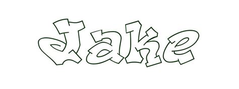 coloring page first name jake