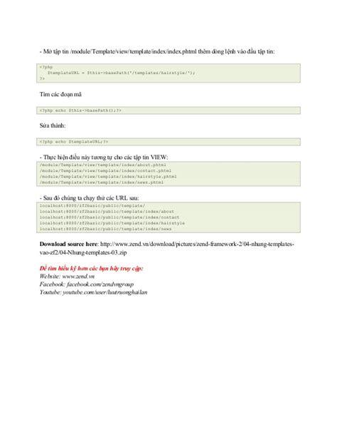 zend framework 2 layout template gi 225 o tr 236 nh zend framework 2 0 nh 250 ng template v 224 o ứng