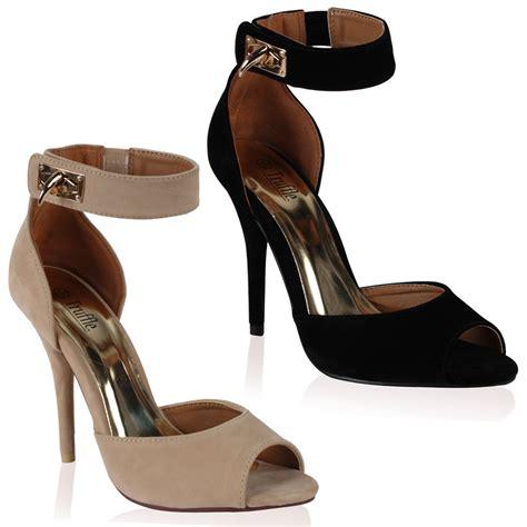 chaussure femme avec laniere a talon haut aiguille ouvert devant taille 36 41 ebay