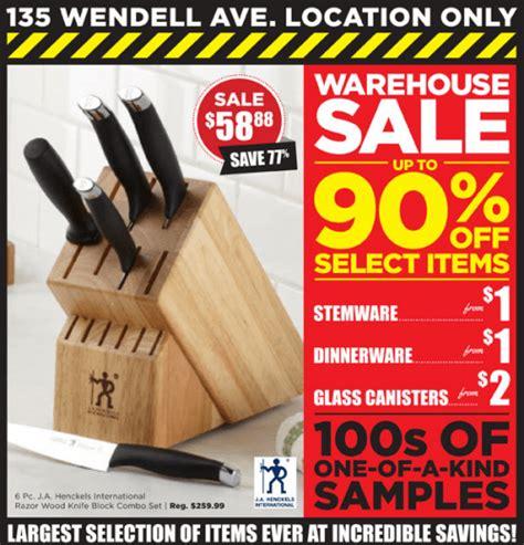 kitchen stuff plus wendell avenue location warehouse sale