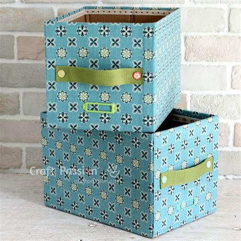diy storage box fabric storage box diy tutorial craft passion