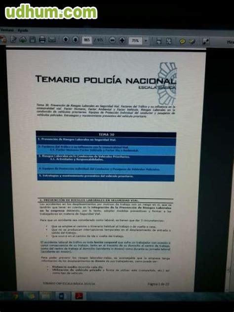 temario policia nacional pdf 2016 2017 temario policia nacional 2016 2017