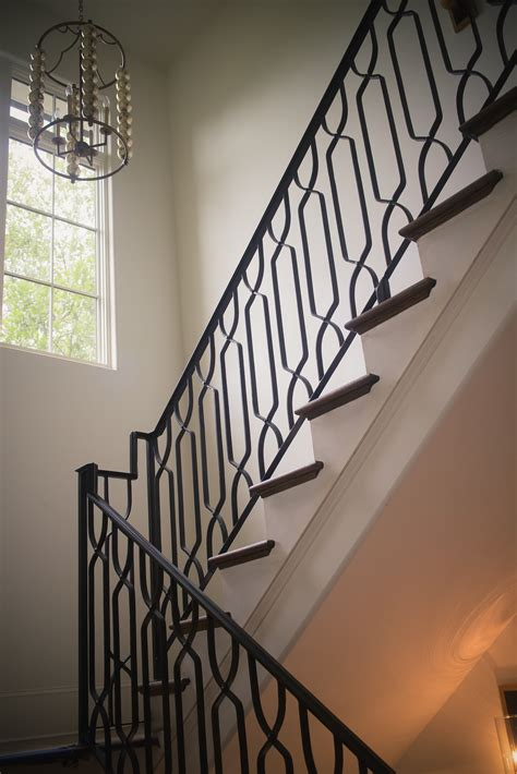 Rod Iron Banister by Wrought Iron Stair Railings Process And Design