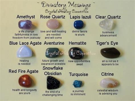 healing crystals and their meanings divinitory meanings