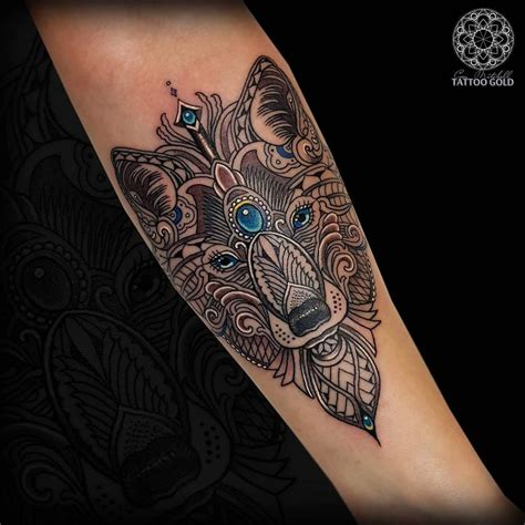 mosaic tattoo custom mosaic fox hushanesthetic inkjecta