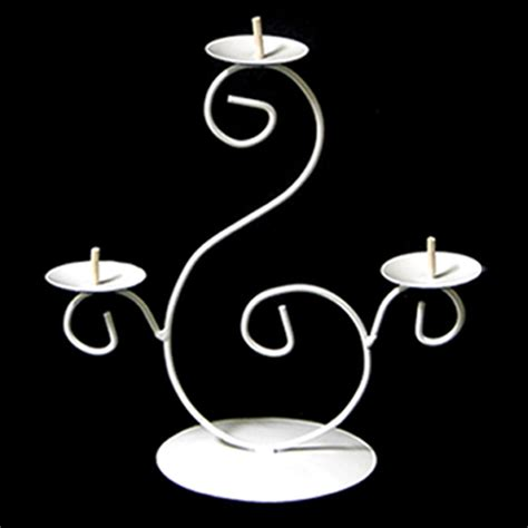 3 Tier Candle Stand Ifavor123 3 Tier Pillar Candle Holder White