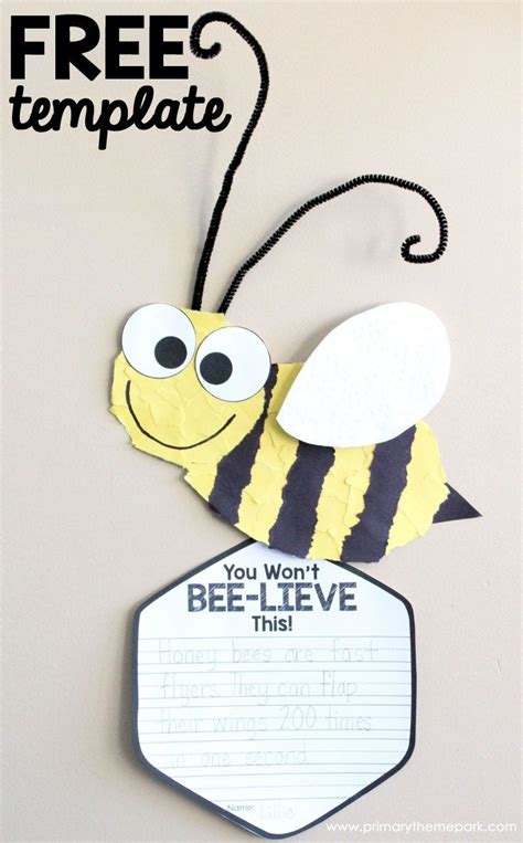 bee writing paper bee craft template insect crafts bee crafts and free